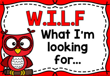 WILF (What I'm looking for) Success Criteria Posters - Owls
