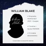 WILLIAM BLAKE Signature Silhouette Posters