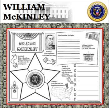 WILLIAM McKINLEY POSTER U.S. President Research Project Biography