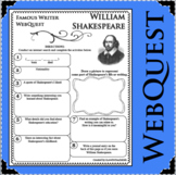 WILLIAM SHAKESPEARE  WebQuest Research Project Poetry Biography Notes