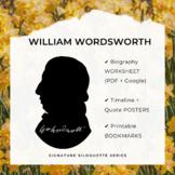WILLIAM WORDSWORTH Signature Silhouette Posters