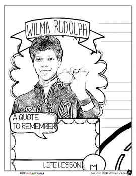 WILMA RUDOLPH, WOMEN'S HISTORY, BIOGRAPHY, TIMELINE, SKETCHNOTES, POSTER