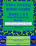 BINGO GAMES  Real and Nonsense Words  NOT ENDORSED BY WILSON