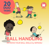 BALL HANDLING | DUO: 20 Task Cards to improve your Ball Sk