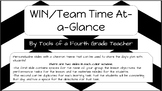 WIN/TEAM Time Lesson At-a-Glance