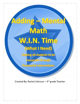W.I.N. Time - adding mental math Intervention