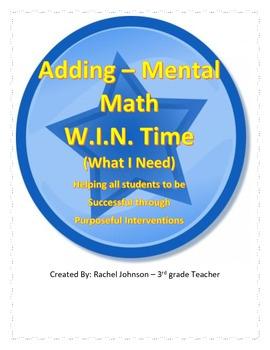 W.I.N. Time - adding mental math Intervention