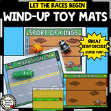 WIND-UP TOYS RACE MATS SPEECH THERAPY SPECIAL ED REINFORCERS