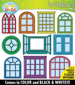 WINDOWS Build-A-Room Clipart {Zip-A-Dee-Doo-Dah Designs}