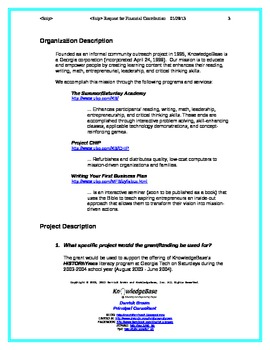 Grant Proposal Template - After-School Program (with Budget)
