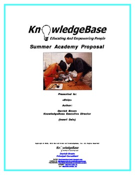 Winning Grant Proposal Template One Week Summer Computer Camp