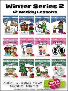 WINTER 12 LESSON PLANS Bundle [DECEMBER ~ JANUARY ~ FEBRUA