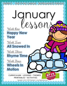 WINTER 12 LESSON PLANS Bundle [DECEMBER ~ JANUARY ~ FEBRUARY] Series 3