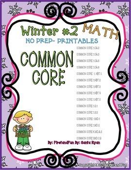 WINTER 2 FUN MATH NO PREP PRINTABLES COMMON CORE MAFS ENVISION PACKET