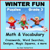 WINTER Vocabulary   RIDDLES   SKILLS   Math   Puzzles   De