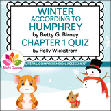 WINTER ACCORDING TO HUMPHREY | CHAPTER 1 | PRINTABLE QUIZ
