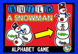 WINTER ACTIVITIES KINDERGARTEN (BUILD A SNOWMAN) ALPHABET
