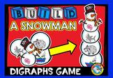 WINTER ACTIVITIES KINDERGARTEN (BUILD A SNOWMAN CENTER) DIGRAPHS GAME