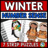 WINTER ACTIVITIES KINDERGARTEN (NUMBER SENSE CENTER PUZZLES)