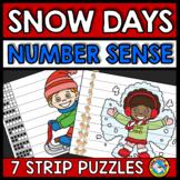 WINTER ACTIVITIES KINDERGARTEN (NUMBER SENSE CENTER PUZZLES) SNOW DAYS