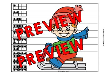 WINTER ACTIVITIES KINDERGARTEN (NUMBER SENSE CENTER PUZZLES) SNOW DAYS