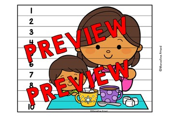 WINTER ACTIVITIES KINDERGARTEN (NUMBER SENSE PUZZLES) HOT CHOCOLATE MATH CENTERS
