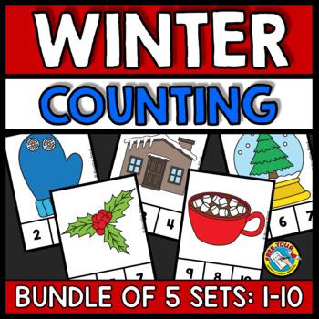 WINTER ACTIVITY KINDERGARTEN (NUMBERS 1-10 PRESCHOOL COUNTING CENTER