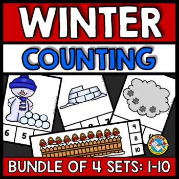 WINTER ACTIVITIES KINDERGARTEN (NUMBERS 1-10 PRESCHOOL COUNTING CENTERS)