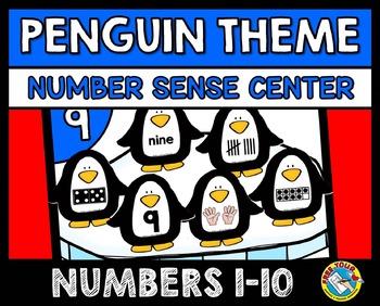 WINTER ACTIVITIES: PENGUINS KINDERGARTEN CENTER: WINTER NUMBER SENSE GAME