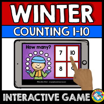 FEBRUARY ACTIVITIES PRESCHOOL MATH (WINTER COUNTING TO 10 BOOM CARDS BUNDLES)