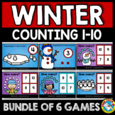 DECEMBER ACTIVITIES PRESCHOOL MATH (WINTER COUNTING TO 10 BOOM CARDS BUNDLES)