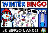 WINTER BINGO GAME FOR WHOLE CLASS (DECEMBER ACTIVITIES FOR KINDERGARTEN)