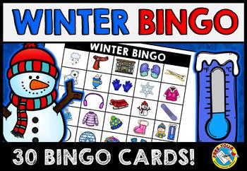 WINTER BINGO GAME FOR WHOLE CLASS (FEBRUARY ACTIVITIES FOR KINDERGARTEN)