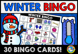 WINTER BINGO GAME FOR WHOLE CLASS (FEBRUARY ACTIVITIES FOR