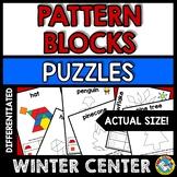 WINTER ACTIVITY 1ST GRADE (KINDERGARTEN PATTERN BLOCKS PUZZLES) DECEMBER MATH