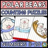 WINTER ACTIVITY KINDERGARTEN (TEEN NUMBER POLAR BEARS MATH