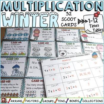 WINTER ACTIVITY: WINTER MULTIPLICATION SCOOT