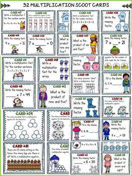 WINTER ACTIVITY: WINTER MULTIPLICATION SCOOT