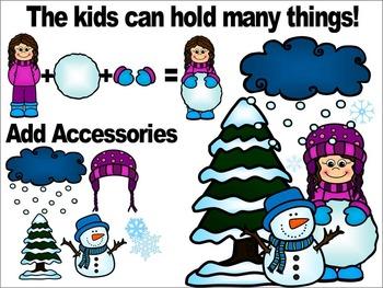 WINTER KIDS CLIPART- WINTER CLIP ART