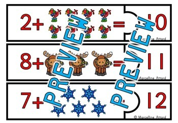 DECEMBER ACTIVITIES KINDERGARTEN (WINTER ADDITION COUNTING ON STRATEGY)