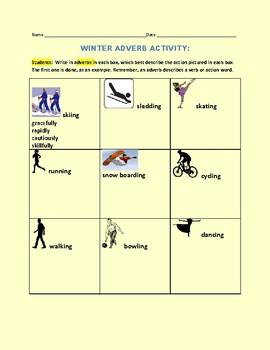 WINTER ADVERB ACTIVITY