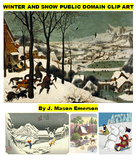 WINTER AND SNOW PUBLIC DOMAIN CLIP ART (100+ IMAGES)