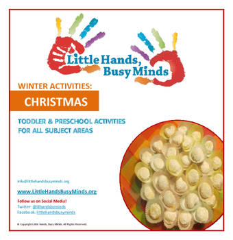 WINTER Activities: COMPLETE Christmas Weekly Thematic Unit for Toddlers & PreK