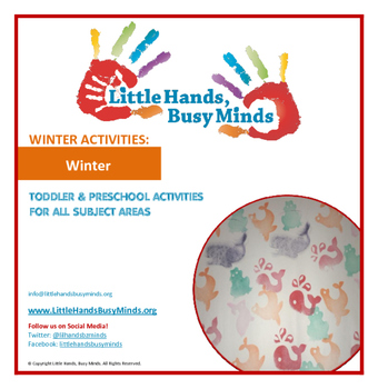 WINTER Activities : Winter: Monthly Thematic Unit for Toddlers and Pre-K