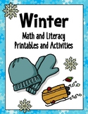 WINTER Math and Literacy Printables and Activities {updated}