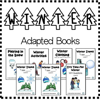 WINTER Adapted Books (sped/autism/elementary/middle)