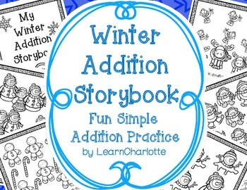 WINTER Addition Storybook Activity