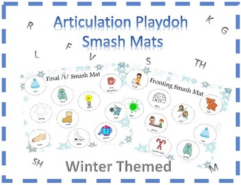 WINTER Articulation Smash Mats || r, l, s, k, g, f, v, sh, th, m