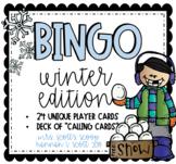 WINTER BINGO (24 Cards & Calling Cards)