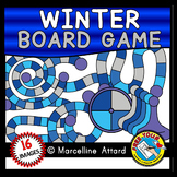 WINTER CLIPART (BUILD A GAME BOARD CLIP ART INCLUDING SPINNERS AND PIECES)